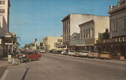 First Street, Downtown Postcard