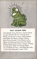 The Salome Frog Postcard