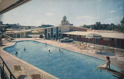 Howard Johnson's Motor Lodge, People in Pool