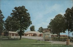 Woodlawn Motel & Red Carpet Dining Room Postcard