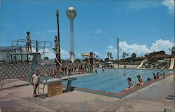 Long Beach Resort Olympic Size Swimming Pool Postcard