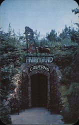 Entrance to Fairyland Caverns, Rock City Gardens Postcard