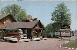 Bowcraft's Woodland Playland Postcard