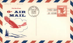 1963 6¢ Bald Eagle Air Mail - First Day of Issue