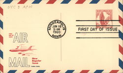 5 Cent Eagle in Flight Air Mail - First Day of Issue 1960