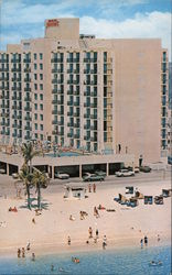 Howard Johnson's Motor Lodge, The Only Oceanfront in the Hollywood - Miami Beach Area Postcard