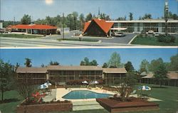 Howard Johnson's Motor Lodge & Restaurant - Two Exterior Views Postcard