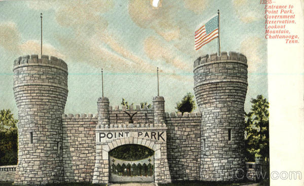 Entrance to Point Park Chattanooga Tennessee