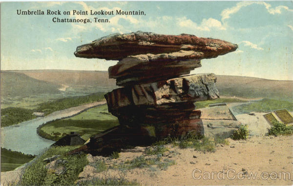 Umbrella Rock on Point Lookout Mountain, Lookout Mountain Chattanooga Tennessee