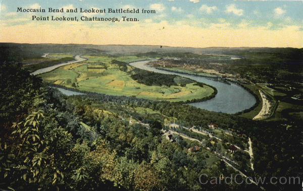 Moccasin Bend and Lookout Battlefield, Point Lookout Chattanooga Tennessee