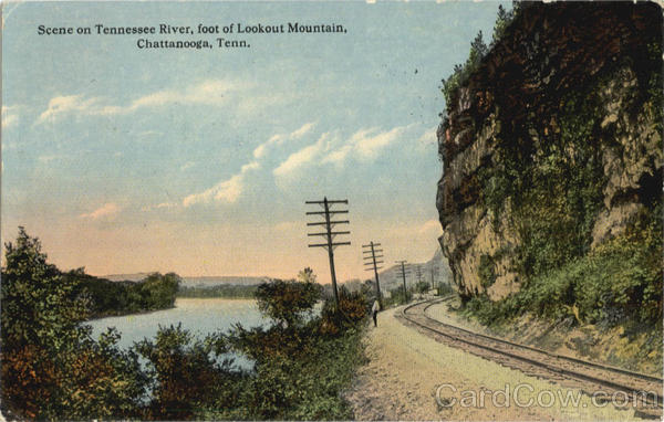 Scene on Tennessee River, Lookout Mountain Chattanooga