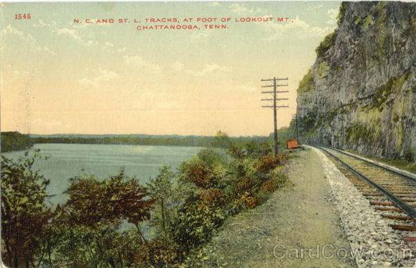 N.C. And St. L. Tracks, Lookout Mt Chattanooga Tennessee