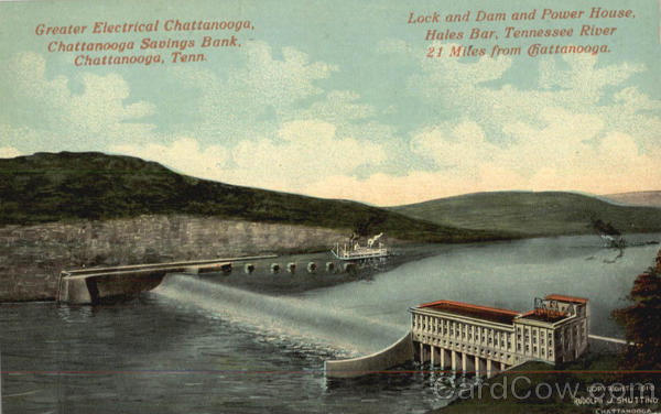 Lock and Dam and Power House Chattanooga Tennessee