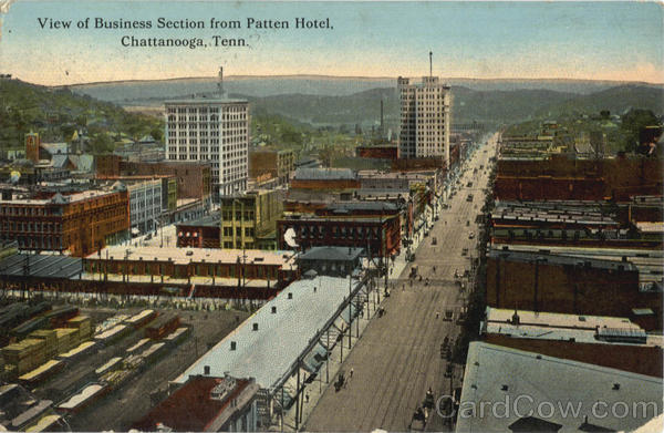 View of Business Section from Patten Hotel Chattanooga Tennessee