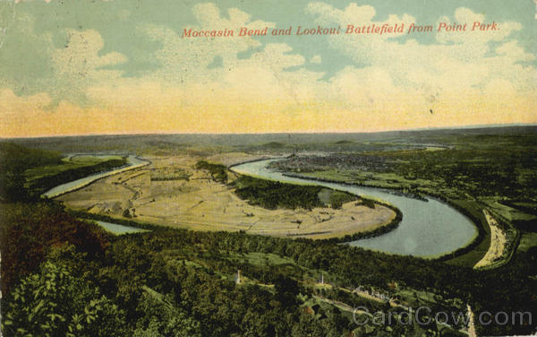 Moccasin Bend and Lookout Battlefield, Point Park Chattanooga Tennessee