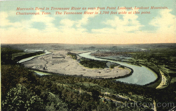 Moccasin Bend in Tennessee River as seen from Point Lookout, Lookout Mountain Chattanooga