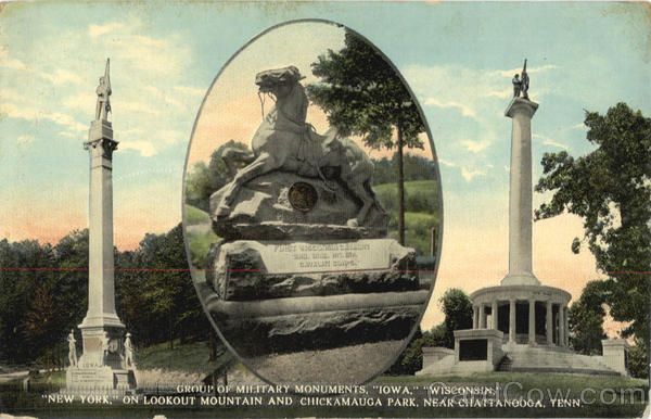 Group of Military Monuments Iowa, Lookout mountain and Chickamauga Park Chattanooga Tennessee
