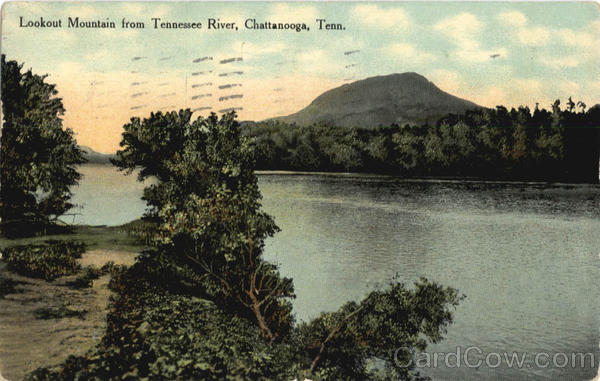 Lookout Mountain from Tennessee River Chattanooga