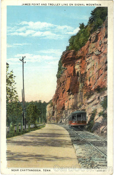 James Point And Trolley Line on Signal Mountain Chattanooga Tennessee