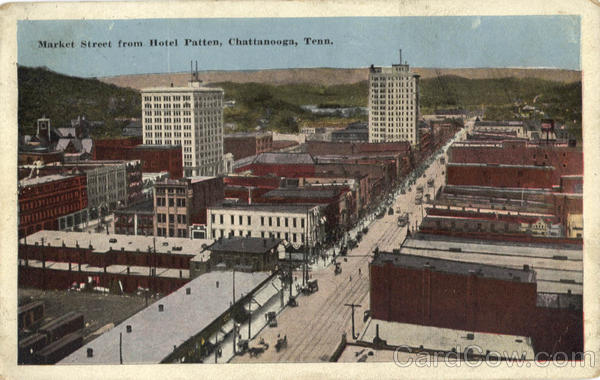 Market Street from Hotel Patten Chattanooga Tennessee