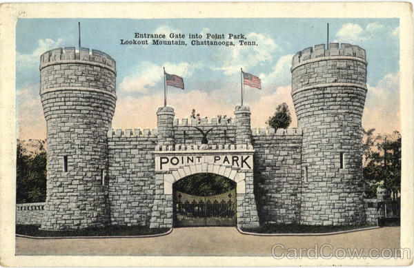 Entrance Gate into Point Park, Lookout Mountain Chattanooga Tennessee