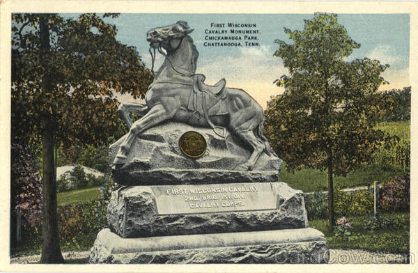 First Wisconsin Cavalry Monument, Chickamauga Park Chattanooga Tennessee