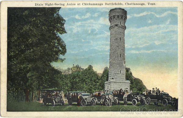 Dixie Sight-Seeing Autos, Chickamauga Battlefields Chattanooga Tennessee