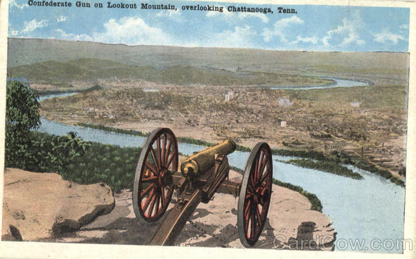 Confederate Gun on Lookout Mountain, Lookout Mountain Chattanooga Tennessee