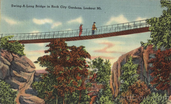 Swing-A-Long Bridge in Rock City Gardens, Lookout Mountain Tennessee