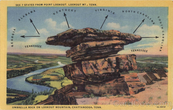 Umbrella Rock, Lookout Mountain Chattanooga Tennessee
