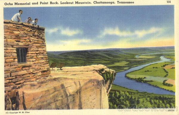 Ochs Memorial and Point Rock, Lookout Mountain Chattanooga Tennessee