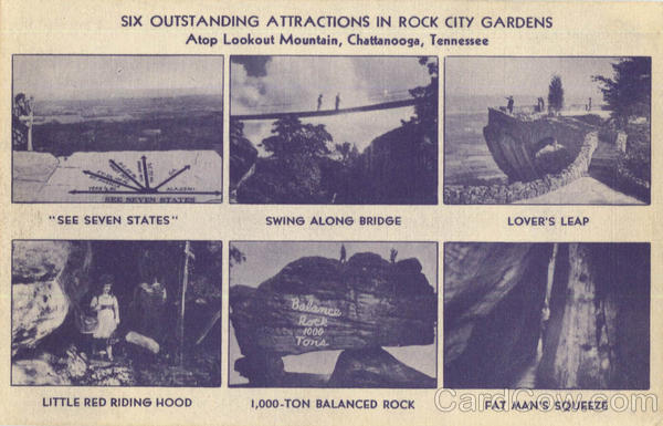 Six Outstanding Attractions In Rock City Gardens, Lookout Mountain Chattanooga Tennessee