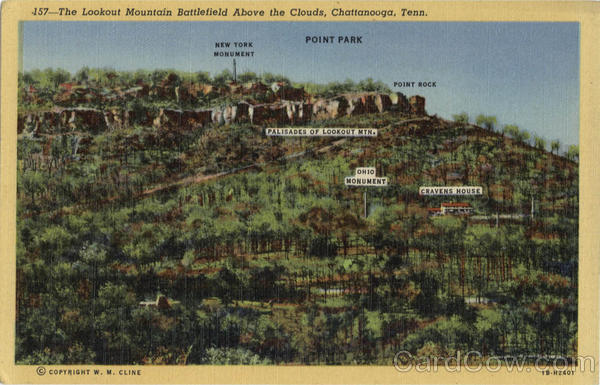 The Lookout Mountain Battlefield Above the Clouds Chattanooga Tennessee