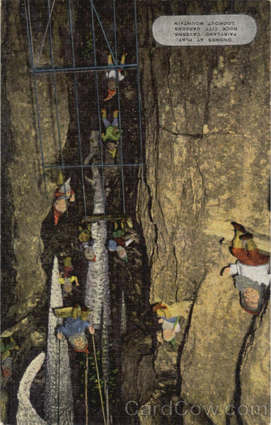 Gnomes At Play, Fairyland Caverns, Rock City Gardens Lookout Mountain Tennessee