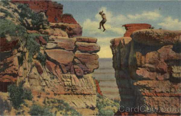 Leap For Life Grand Canyon National Park Arizona