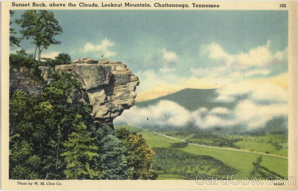 Sunset Rock, above the Clouds, Lookout Mountain Chattanooga Tennessee