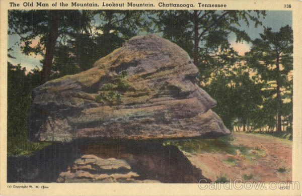 The Old Man of the Mountain, Lookout Mountain Chattanooga Tennessee