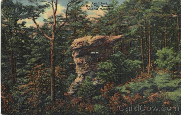 Anvil Rock, Lookout Mountain Rock City Gardens Tennessee