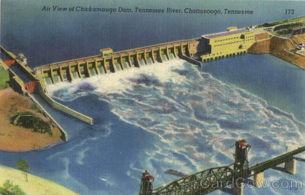 Air View of Chickamauga Dam, Tennessee River Chattanooga