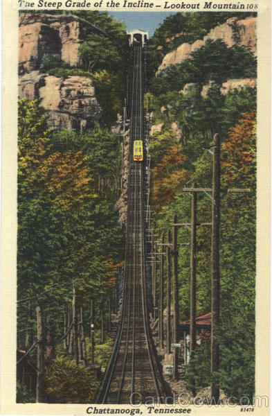 The Steep Grade of the Incline, Lookout Mountain Chattanooga Tennessee