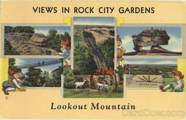 Views in Rock City Gardens, Lookout Mountain Tennessee