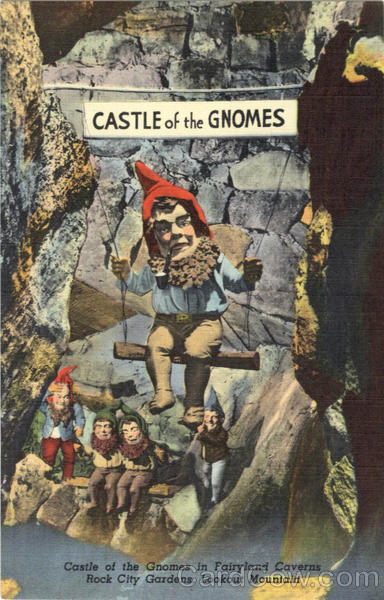 Castle of the Gnomes in Fairyland Caverns, Lookout Mountain Rock City Gardens Tennessee
