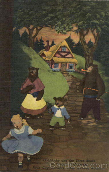 Goldilocks and the Three Bears in Fairyland Caverns Lookout Mountain Tennessee