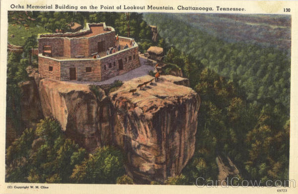 Ochs Memorial Building on the Point of Lookour Mountain Chattanooga Tennessee