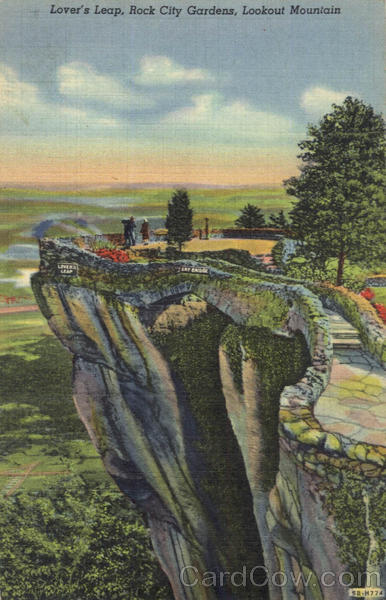 Lover's Leap, Lookout Mountain Rock City Gardens Tennessee