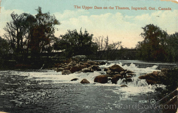 The Upper Dam on the Thames Ingersoll Ontario Canada