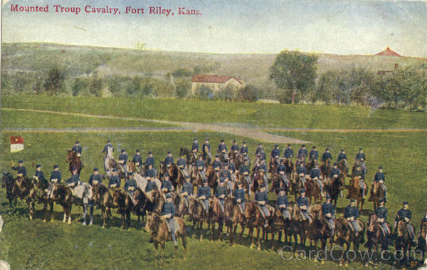 Mounted Troup Cavalry Fort Riley Kansas
