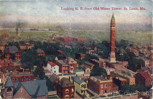 Looking N.E. from Old Water Tower St. Louis Missouri
