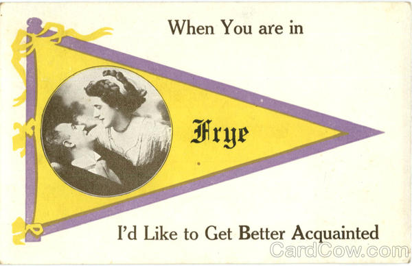 Frye Maine Banner Card Banners & Pennants