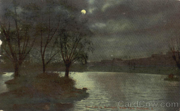 The Lake by Moonlight, Wade Park Cleveland Ohio